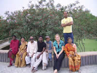 Volunteer from Netherland with Snehalaya Patients